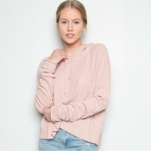 Brandy Melville Waffle Knit Hoodie Small OS